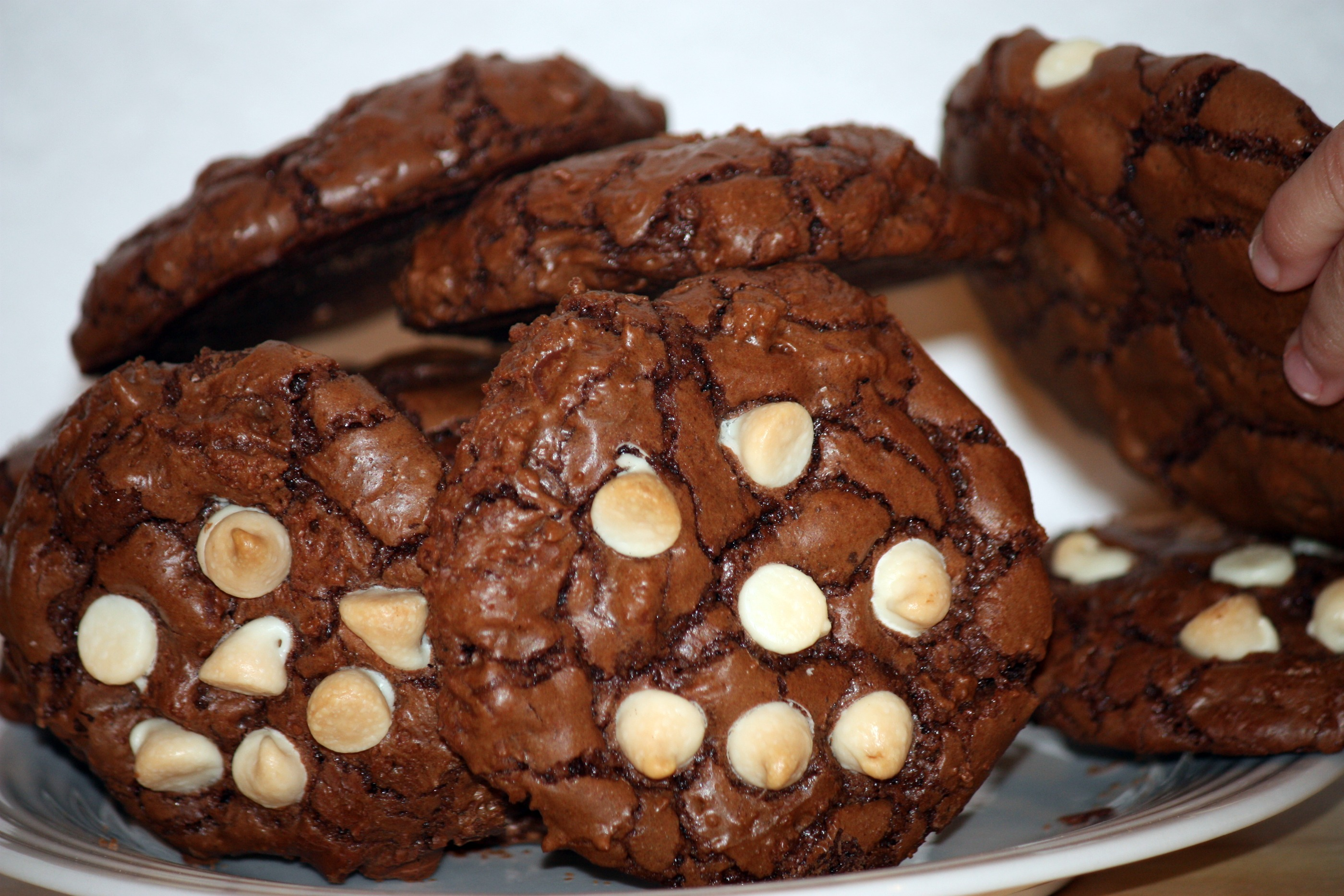 Triple Chocolate Cookies with Chocolate Chip Faces | Blondie and ...